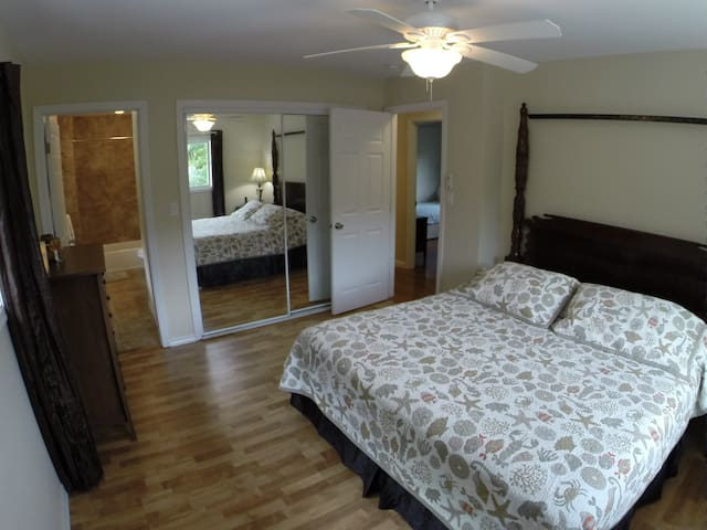 Master Bedroom with private full bath.