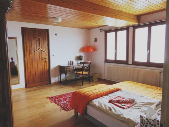 Chambre 1 à 2 lits avec sortie sur terrasse