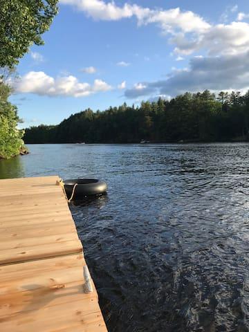 Retreat on the Hudson River-18 mi to Saratoga Spg.