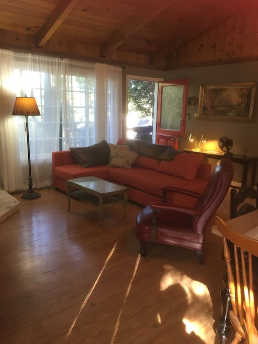 Living room with dutch door