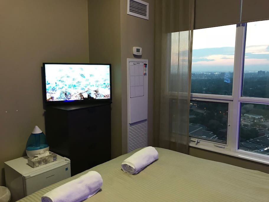 The room is equipped with a smart TV, Netflix included and a privet mini fridge.