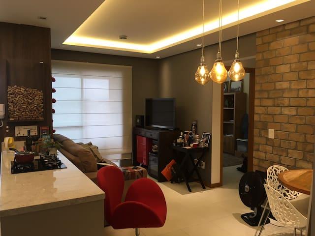 Apartamento LINDO no Continente, 10m de Floripa! - São José