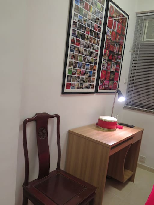 Desk and a task lamp