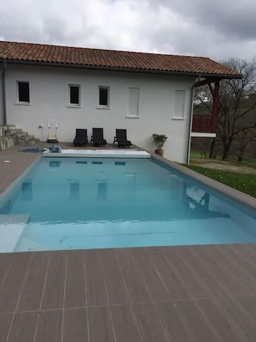 Villa avec piscine au Pays Basque - Beyrie-sur-Joyeuse - Rumah
