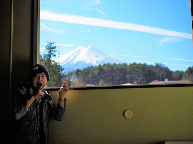 This guesthouse is the closest to Mt.Fuji in Japan - Fujiyoshida-shi - Gästehaus