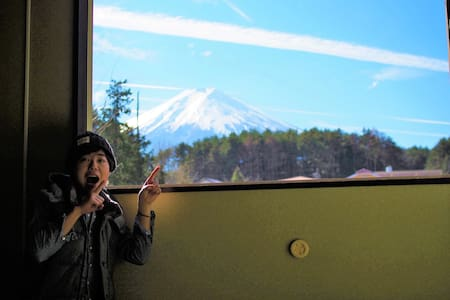 This guesthouse is the closest to Mt.Fuji in Japan - Fujiyoshida-shi