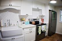 Brand new, totally renovated kitchen equipped with everything you miss from home