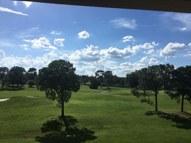 1 bedroom in a condo with a beautiful golf view!