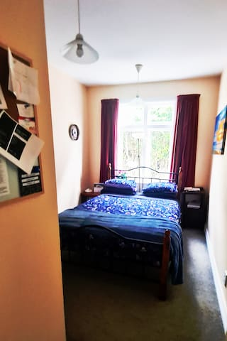 Private, secure double bedroom
