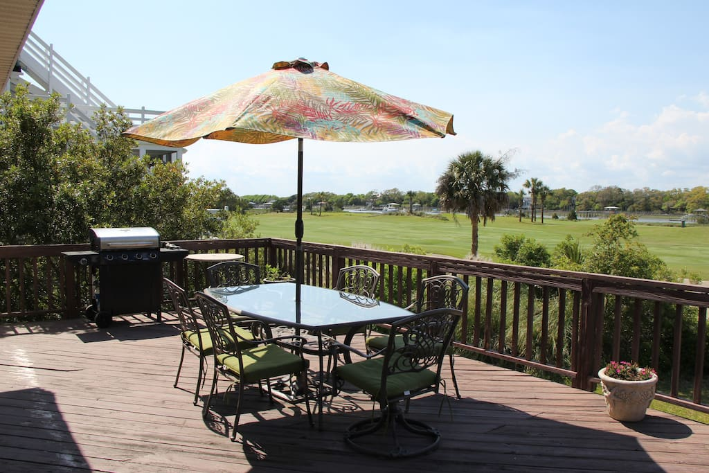 Back deck is perfect for grilling and admiring the view