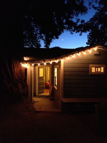 Redwood Studio cozy retreat for two, walk to town! - Guerneville - Byt