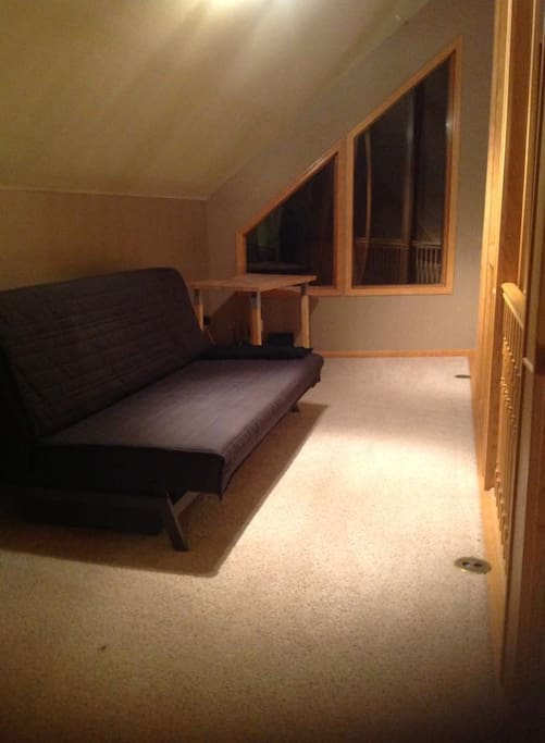 Loft space with futon