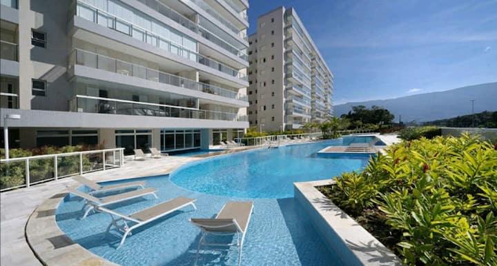 Apartamento Praia Bertioga - De frente a Praia