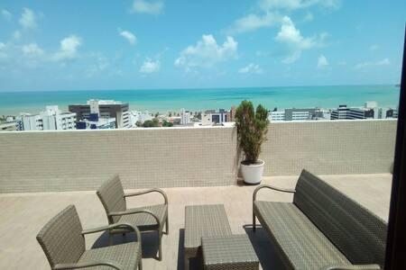 Ótimo quarto em Tambaú com vista para o mar - João Pessoa