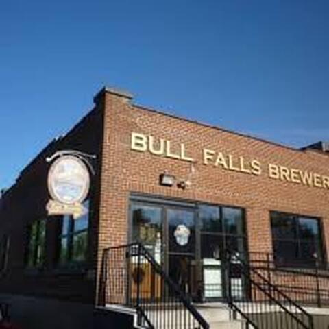 Steps from world famous and award winning Bull Falls Brewery  http://bullfallsbrewery.com/