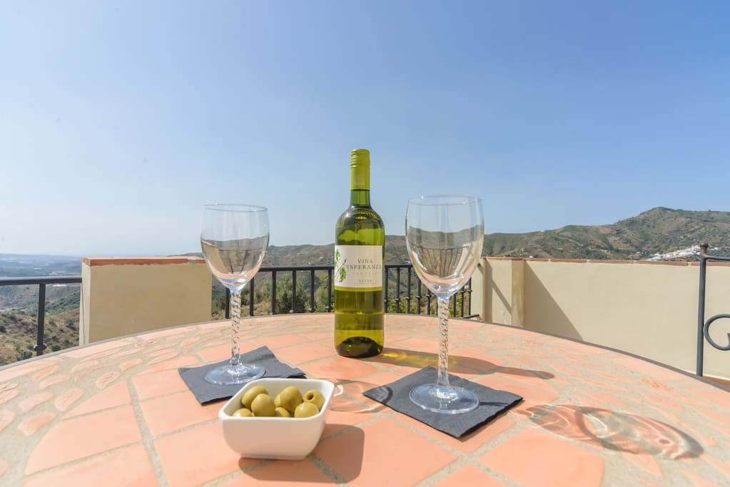 Enjoy a glass of wine with an incredible view!