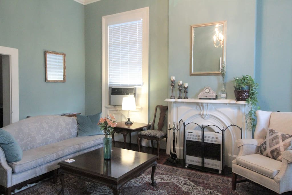 Enjoy your morning coffee and breakfast here in the parlor, or on the front porch in a comfy rocking chair.