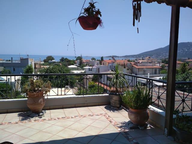 Beautiful maisonette with amazing sea view