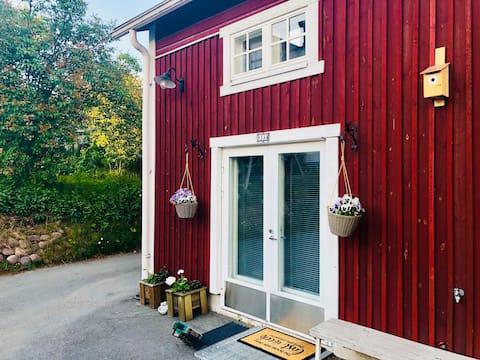 Saunallinen studioasunto Vanhassa Raumassa