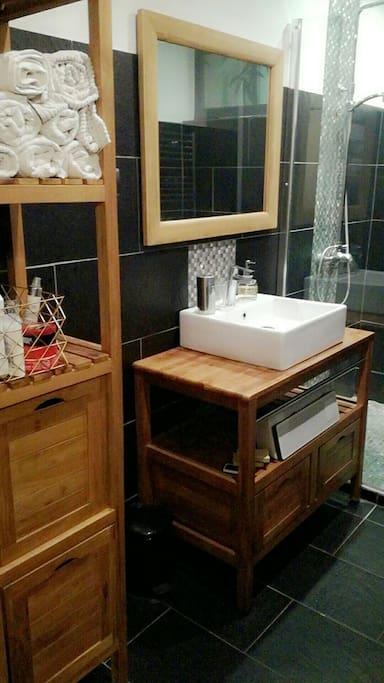 magnifique salle de bain avec douche Italienne