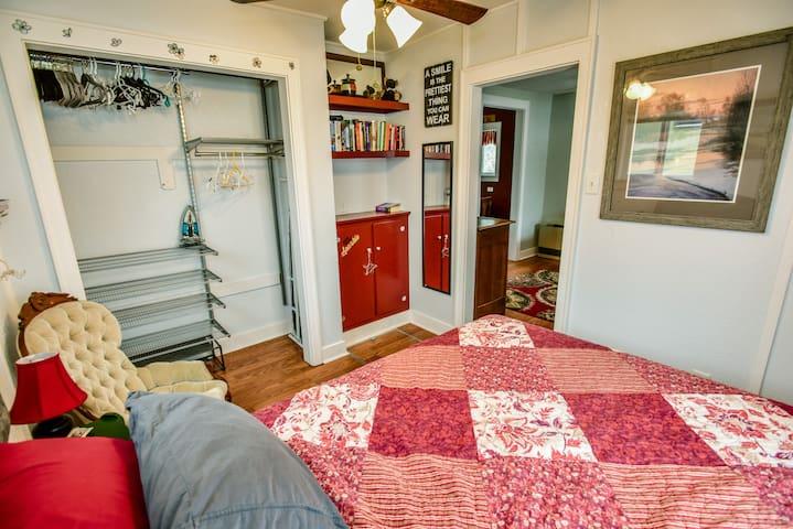 Bedroom with plenty of closet space