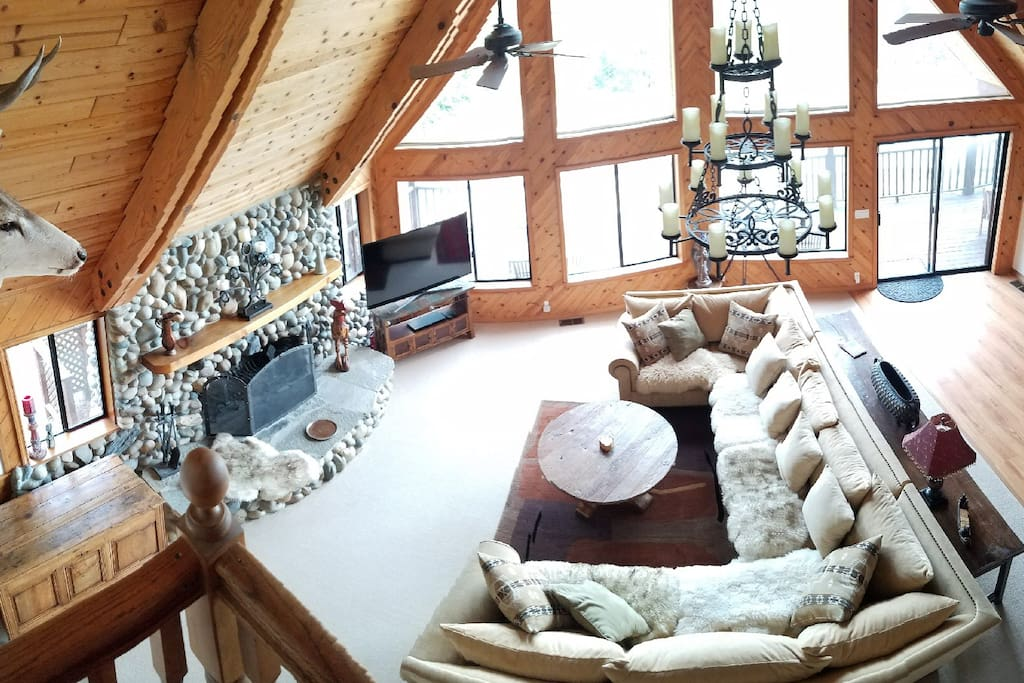 Great room, view from above.