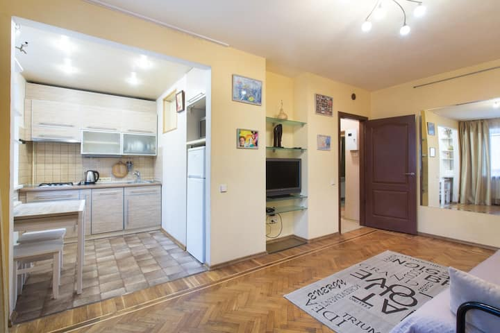 Spacious apartment in the heart of Kharkov!