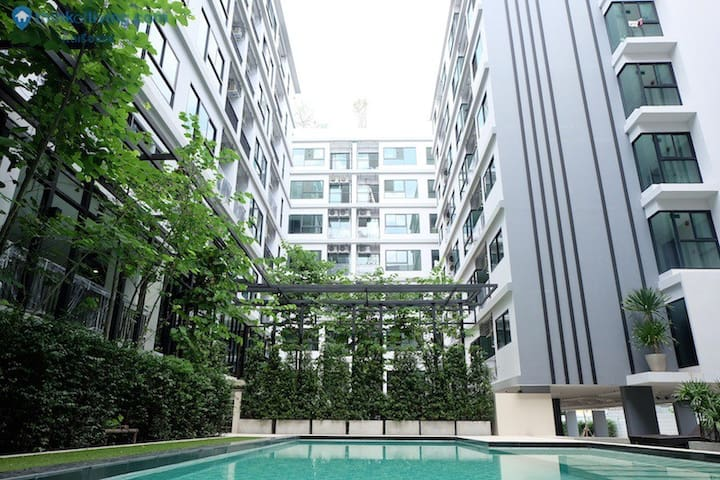 5 min. Convenient to skyline and subway - Bangkok - Wohnung