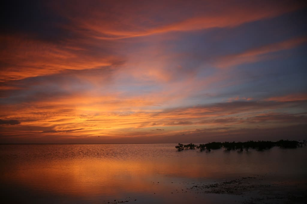 A wonderful sunset at golden hour at Isla Blanca, in the previous picture I mentioned a little bit about Isla Blanca, this is another incredible landscape of the lagoon at this awesome place.