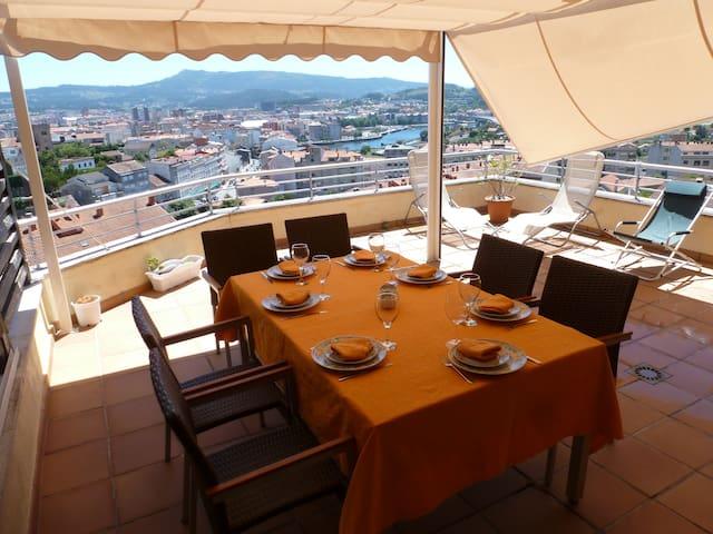 Penthouse: Balcony over Pontevedra - Poio - Pis