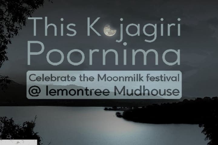 The first full moon after the monsoon.  Utterly beautiful. Strangely mysterious. It is said that nature bestowes it with special curative powers. What better place than the Mudhouse to enjoy it all?