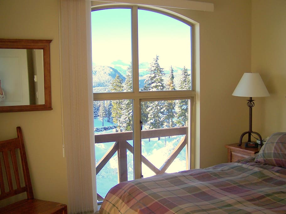 Bedroom with a view too