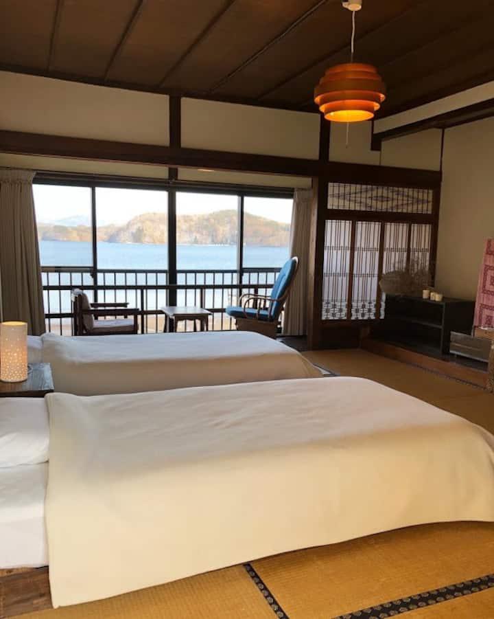 野尻湖一望の特別ルーム2部屋貸し切り4名様まで同一料金!(6名様まで可)優雅な時間をのんびりと。。