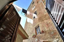 The view from the 2nd Bedroom on an internal characteristic courtyard..