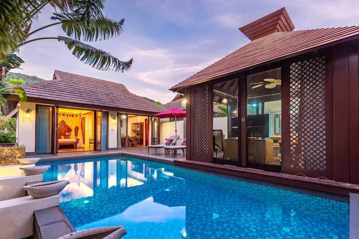 亚龙湾东南亚溪谷雨林泳池别墅