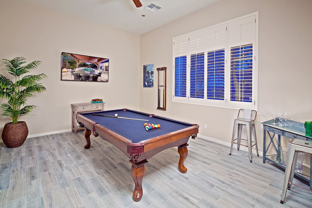 Keep everyone entertained in the fun game room with courtyard access.