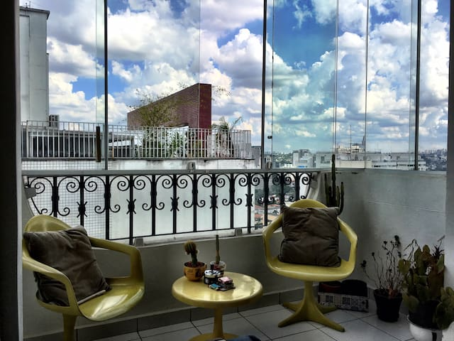 Vila Madalena - Cozy with a view on the 16° floor. - São Paulo - Byt