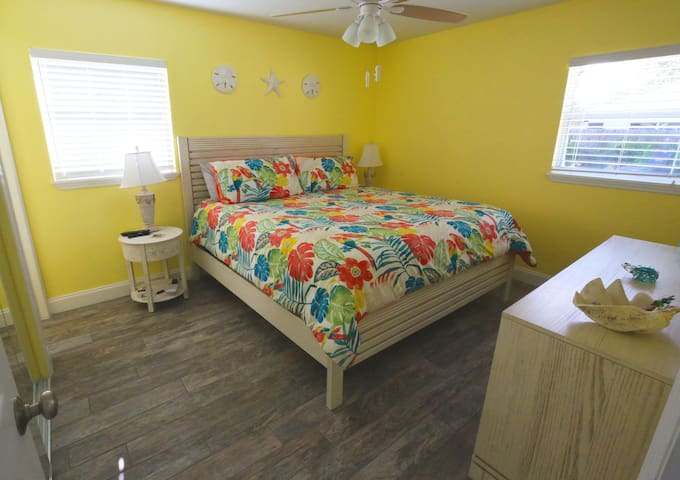 Master Bedroom with a King size bed!