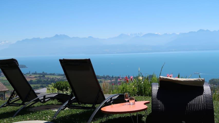 Panorama unique au Lac Léman avec petit déjeuner