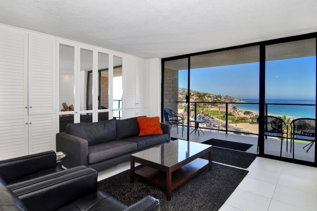 Spacious Living room with Balcony!