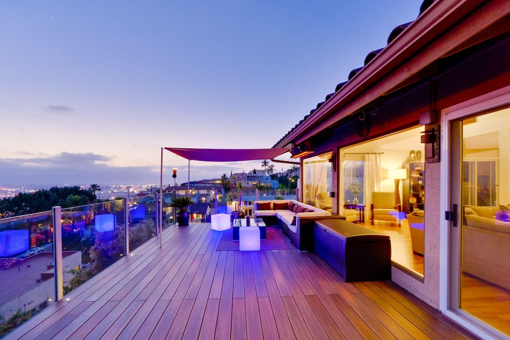 500 SF deck with 270 degree views