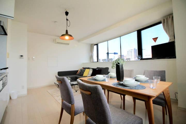 10 min Hiroshima Station & 2BR Up to 10p & 4 bikes
