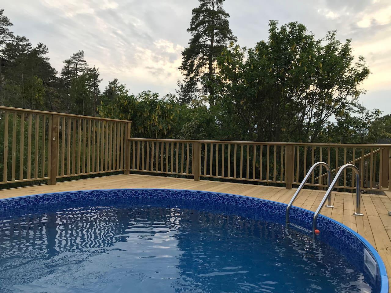 Nybyggd pool