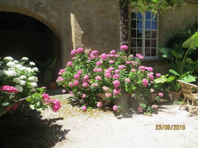 Maison de village, jardin, piscine, tous commerces - Rognes - Rumah