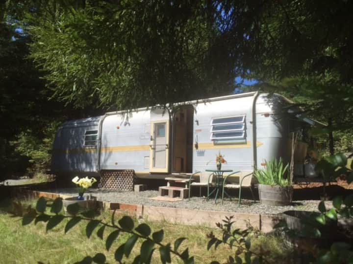 Airstream in Redwoods-River, Ocean, Hottub