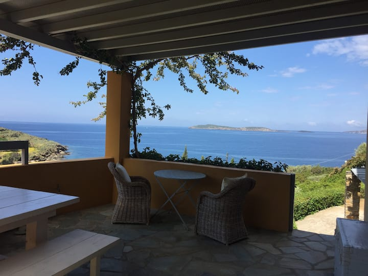 Andros Greek Villa by the sea