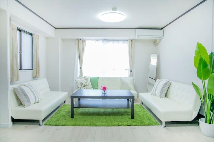 New ApartmentFree Wi-fiTennoji ST 5min16ppl - Tennōji-ku, Ōsaka-shi - Apartment