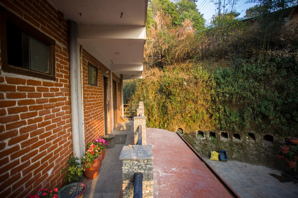 Interior area, balcony