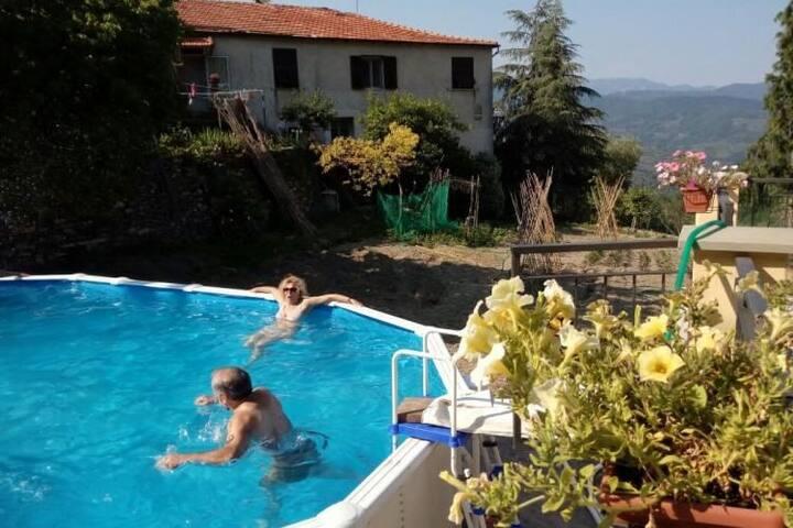 Agriturismo Antico Granaio. Garden with terrace Quiet area