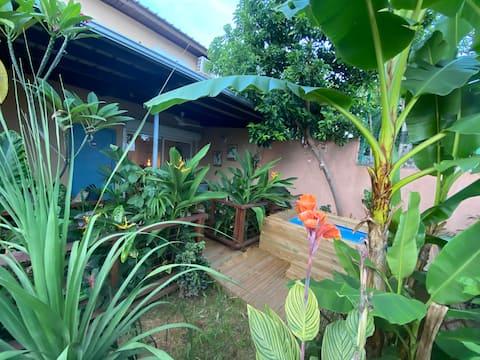 Özel bahçeli güzel oda